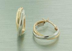 Zlaté dámske náušnice vyrobené zo 14 karátového žltého zlata.