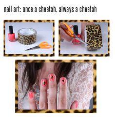 #Cheetah nails: click through for full directions! #DIY #nail #art