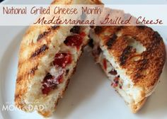 National Grilled Cheese Month: Grilled Mediterranean Sandwich | A Year with Mom & Dad