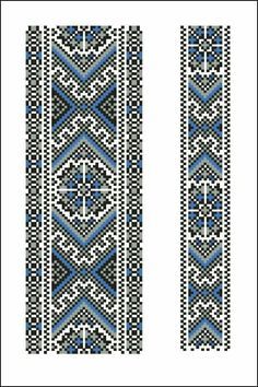 Beading _ Pattern - Motif / Earrings / Band ___ Square Sttich or Bead Loomwork ___ Cross Stitch Bookmarks, Cross Stitch Borders, Cross Stitch Designs, Cross Stitching, Cross Stitch Embroidery, Cross Stitch Patterns, Peyote Patterns, Loom Patterns, Beading Patterns