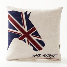 Creative British flag horse pillow for couch