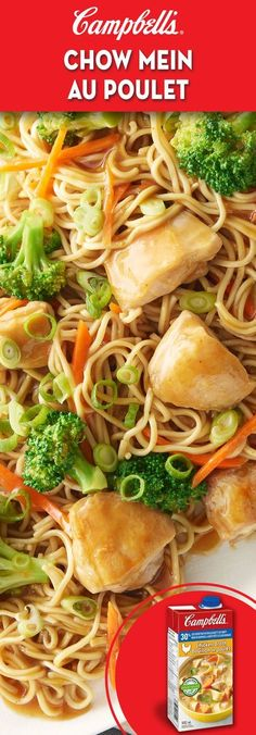 Chow Me in au poulet - My pictures Chow Mein Au Poulet, Campbells Soup Recipes, Asian Recipes, Healthy Recipes, Chicken Chow Mein, Supper Recipes, Healthy Supper Ideas, Asian Cooking, Pasta