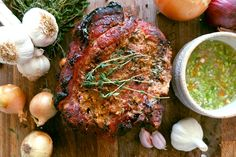 Slow roast shoulder of pork with grapefruit and Scotch bonnet chilli