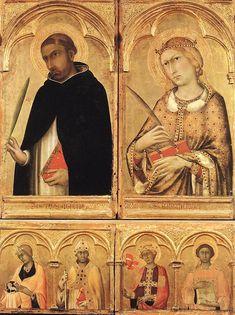 Polyptych of Santa Caterina (detail)  1319  Tempera on wood  Museo Nazionale di San Matteo, Pisa.SIMONE MARTINI  Italian painter, Sienese school (b. 1280/85, Siena, d. 1344, Avignon)