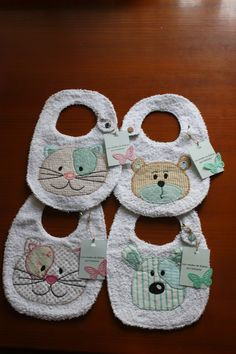 Best 12 SALE PDF ePattern for Babchcgkqax km b cf bm CSS mxjybxbnb y Animal Appliques by preci. Baby Bibs Patterns, Sewing Patterns, Baby Sewing Projects, Sewing Crafts, Baby Shower Fun, Baby Shower Gifts, Baby Accessoires, Bib Pattern, Baby Co