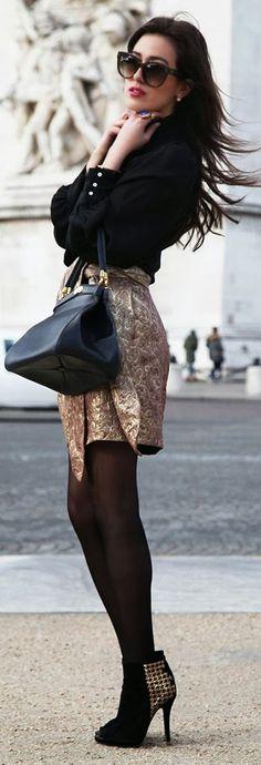 Patrizia Pepe Black Back Embellished Heels  Via ~LadyLuxury~