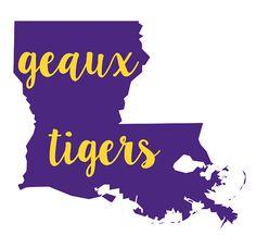 Geaux Tigers LSU Decal Vinyl Monogram Sticker by YrsTrulyDesigns
