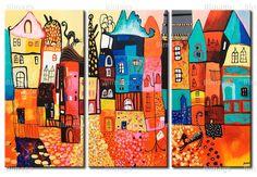 Cuadro Casas coloridas - pincha para ampliar
