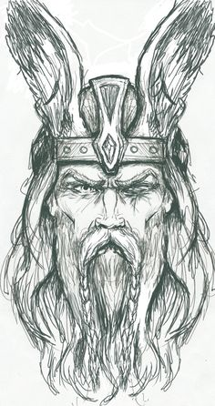 Odin Sketch by PlunderedPsyche on deviantART