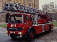 Bedford Turntable Ladder, Oxfordshire Fire Service General Motors Cars, Bedford Truck, Fire Apparatus, Emergency Vehicles, Fire Engine, Fire Department, Fire Trucks, Motor Car, Firefighter
