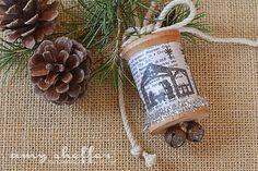 Pickled Paper Designs: Nativity Spool Ornament