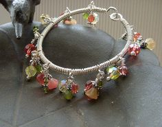 Wire Wrapped Floral Bangle by Simply_Adorning, via Flickr