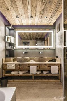Hotel eva,VILLAGE Saalbach-Hinterglemm, Austria - Bathrooms and bathtubs we fell in love with - Bathroom Decor Brown Bathroom, Ikea Bathroom, Diy Bathroom Decor, Bathroom Styling, Bathroom Interior Design, Small Bathroom, Master Bathroom, Bathroom Cabinets, Downstairs Bathroom
