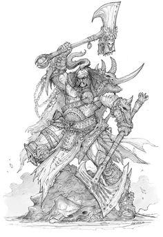 Barbarian concept by AlexBoca.deviantart.com on @DeviantArt