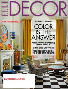 Read features on de Gournay in a wide variety of publications including Vogue, Elle Decoration and the World of Interiors. Home Decor Online, Easy Home Decor, Elle Decor Magazine, Dream Home Design, Diy On A Budget, Furniture Sale, Outdoor Rooms, Christmas Home, Decoration