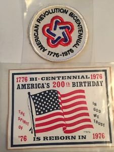 American Revolution Bicentennial Patch and Decal 1776 1976 200th Birthday | eBay