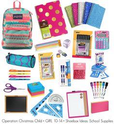 Operation Christmas Child Shoebox Ideas • Girl 10-14