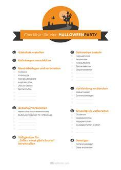 Halloween rückt näher. Damit die Planung für eine gruselige Halloween-Party. Woran Sie alles denken müssen, können Sie in unserer Halloween-Party-Checkliste nachlesen. Mehr gibt's hier:  http://magazin.sofatutor.com/eltern/2014/10/02/kostenlos-downloaden-halloween-party-checkliste-und-halloween-party-einladung/