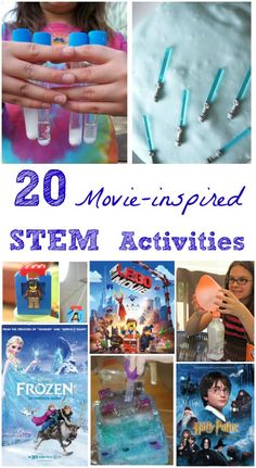 STEM Activities Inspired by Kids Movies LOVE these science & engineering activities for kids -- great to do when you watch the movie!LOVE these science & engineering activities for kids -- great to do when you watch the movie! Kid Science, Stem Science, Preschool Science, Teaching Science, Science Classroom, Science Movies, Physical Science, Science Education, Science Table