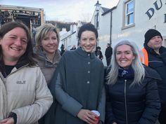 Fan Pic | Sam Heughan and Caitriona Balfe on Outlander Season 3 Set in Dunure | January 30, 2017