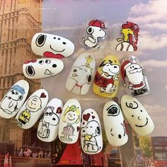 10 Impressive Nails Design For The Halloween Fanatic Nail Line Halloween Nail Designs, Halloween Nail Art, Snoopy Nails, Gothic Nails, Valentine Nail Art, Light Nails, Strong Nails, Flower Nail Art, Funky Nails