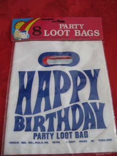 Vintage MOD Party Loot Bags by VintageByThePound on Etsy, $8.00