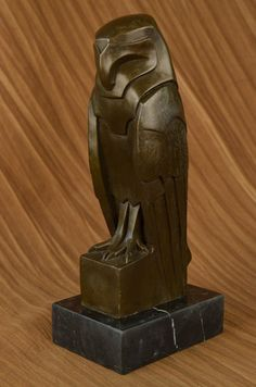 Salvador Dali Abstract Modern Art Owl Bronze Sculpture Marble Statue Home Decor | eBay