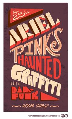 Ariel Pink's Haunted Graffiti Typography design inspiration