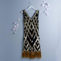 ritz vintage inspired flapper embellished fringe dress by gatsbylady london | notonthehighstreet.com