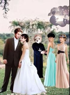 found this on google thought it was cute, also because those dresses are nice .....lol .....#5sos wedding