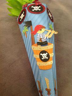 #Schultüte #Pirat basteln