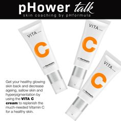 pHower talk skin coaching with pHformula. Lack of skin brightness can be due to depletion of Vitamin C in the skin. Love Your Skin, Peeling, Vitamin C, Healthy Skin, Ph, Innovation, Coaching, Personal Care, Training