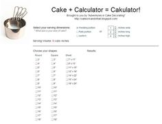 Calculate Volume Of Cake Pan