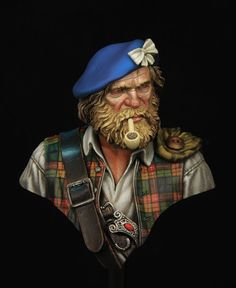 1\10 scale Highland clansman 1745. Boxart for Young miniatures by Kirill Kanaev · Putty&Paint