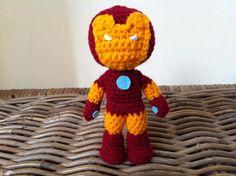 Iron Man inspired crochet amigurumi chibi by LottiesCreations, £14.00