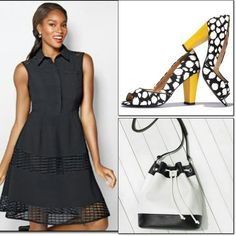 Laser-cut Fit N' Flare Dress - available in sizes small - extra large.  Pair it up with the Blurry Dot Fashion Pump & the Color block Drawstring Bag (c11) #167-270.  To order, please visit: www.bit.ly/Avon-Fdaniely  #fashionfriday #ootd #womensfashions #avon #lasercut #fitnflaredress #blurrydot #fashionpump #colorblock #drawstringbag #handbag #purses  #freeshipping #mothersday #giftidea #glam #slayoftheday #style #fashion #instafashion #instastyle #fashionblogger #streetstyle #stylish…