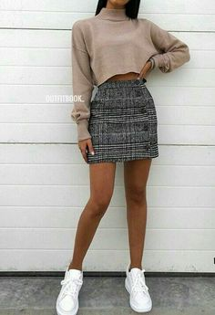 Pin by 🌻 bear jorge 🌻 on appearel in 2019 outfit stile, outfit ideen, läs Cute Skirt Outfits, Cute Winter Outfits, Cute Skirts, Cute Casual Outfits, Autumn Outfits, Casual Outfits For Teens Summer, Casual Summer, Teen Dresses Casual, Mini Skirt Outfit Winter