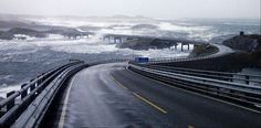 The Atlantic Ocean Road or the Atlantic Highway - National Tourist Route and the most beautiful road in the world! Atlantic Road Norway, Atlantic Ocean, Wonderful Places, Beautiful Places, Amazing Things, Dangerous Roads, Ocean Waves, Adventure Travel, Drum