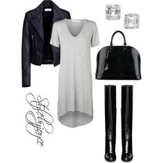 Casual Friday by styledbyjmini on Polyvore featuring polyvore, fashion, style, Balenciaga, Yves Saint Laurent and Louis Vuitton