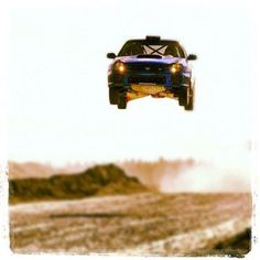 Subaru Rallying; Now that's air born!