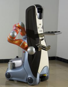 The Care-O-Bot 3 robot has been designed with the needs of seniors in mind. It can grab on to objects and has a long arm to reach high shelves to grab item senior's need.