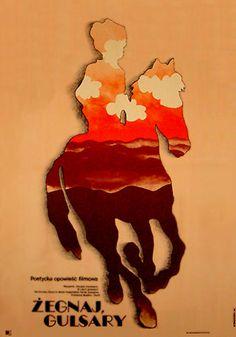 Zegnaj, Gulsary poster by Mieczyslaw Wasilewski (Polish, 1970)