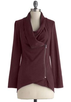 Airport Greeting Cardigan in Burgundy, #ModCloth $54.99
