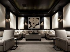 Sober, elegant...versatile Home Theater: Many friends or just one guest.