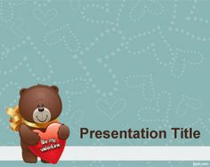 St Valentine PowerPoint Template is a free Saint Valentine's PowerPoint template that you can download for presentations on love or I love you bear PowerPoint presentations