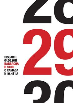 BBQ29 i like how the date is emphasized by large numbers in a row and the actual date is red #posterdesign