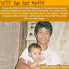 This man saved 30 people during the floods in the Philippines - WTF fun facts