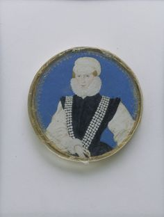Portrait of Mary Dudley, Lady Sidney (d.1586) painted by  Levina Teerlinc-Teerlinc (b. Bruges, 1510–1520?; d. London, 23 June 1576) was a Flemish Renaissance miniaturist who served as a painter to the English court of Edward VI, Mary I and Elizabeth I.