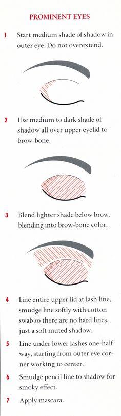 Eye make up for prominent eyes - Bellezza - - Eye Makeup - Makeup Inspo, Makeup Inspiration, Makeup Tips, Beauty Makeup, Makeup Stuff, Eye Shape Makeup, Skin Makeup, Protruding Eyes, Smoky Eyes
