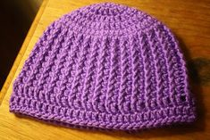 This hat is one I just came up with off the top of my head. Ha! Hat~Top of my Head! OK that's enough of that. I made the hat for my o...